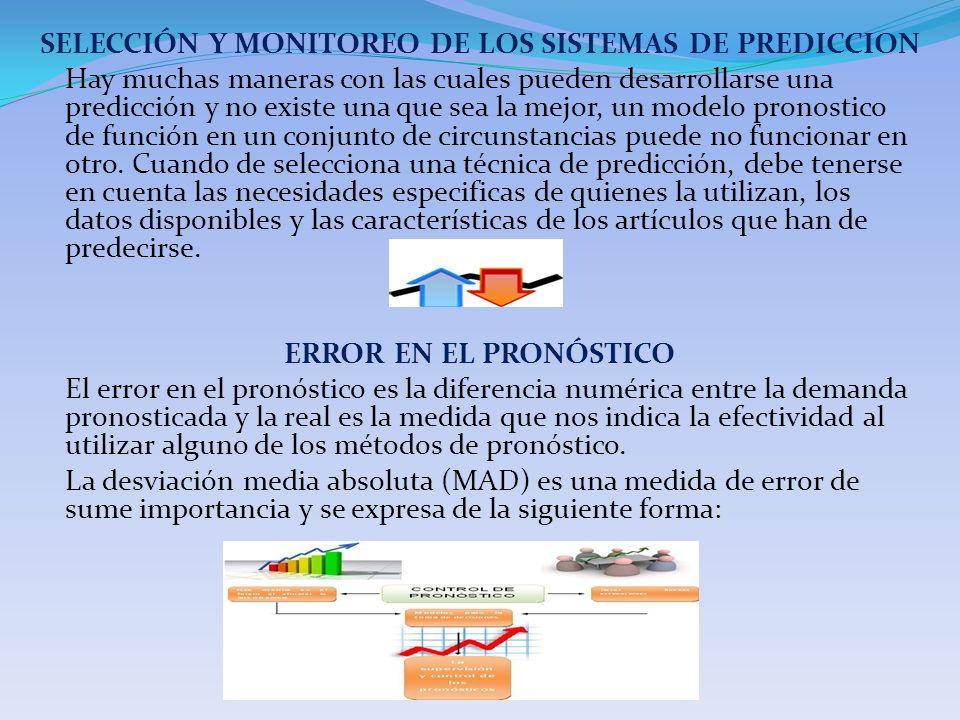 SELECCIÓN Y MONITOREO DE LOS SISTEMAS DE PREDICCION