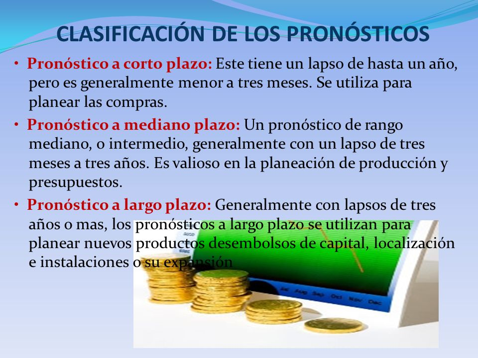 CLASIFICACIÓN DE LOS PRONÓSTICOS