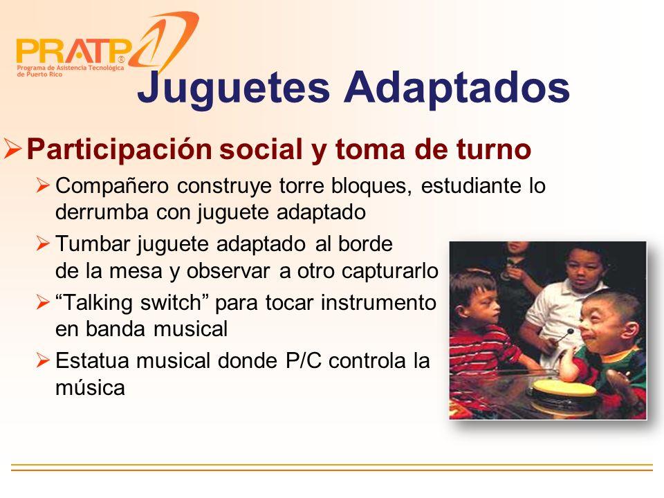 Juguetes Adaptados Participación social y toma de turno