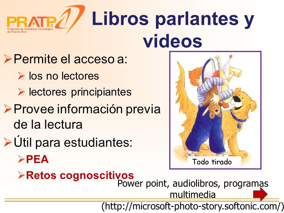 Libros parlantes y videos