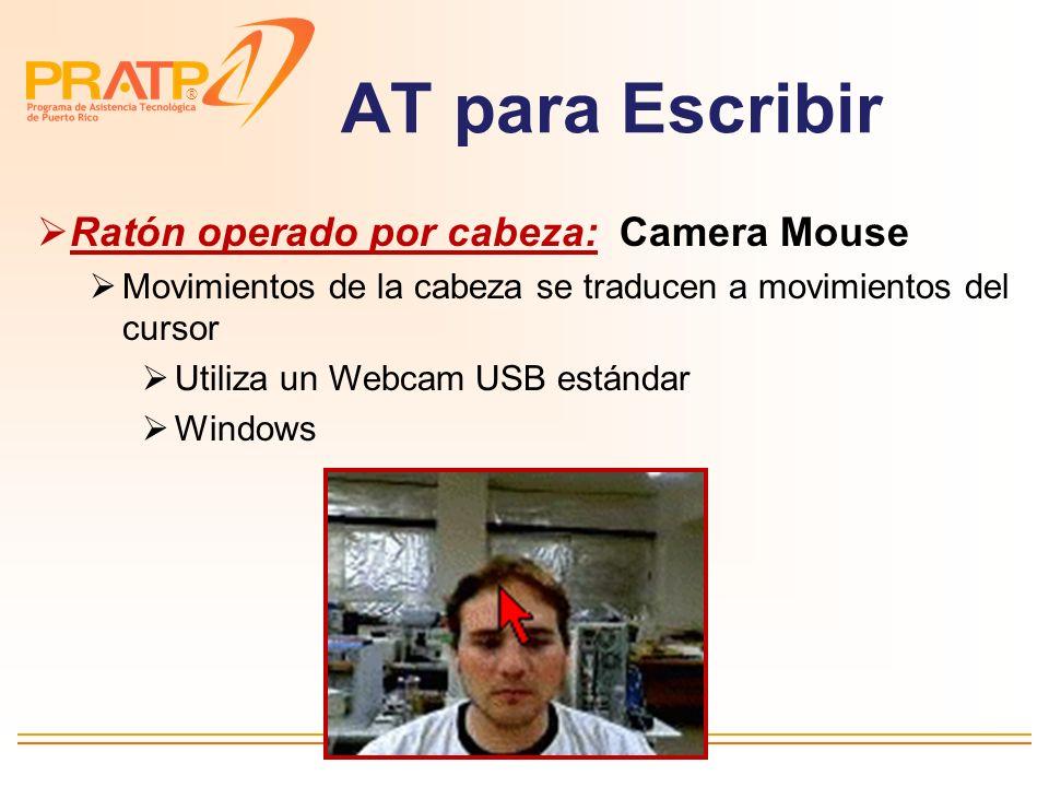 AT para Escribir Ratón operado por cabeza: Camera Mouse