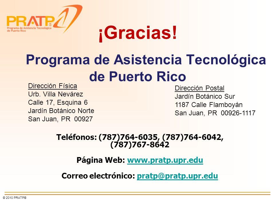 ¡Gracias! Programa de Asistencia Tecnológica de Puerto Rico