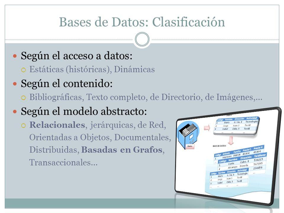 Bases de Datos: Clasificación