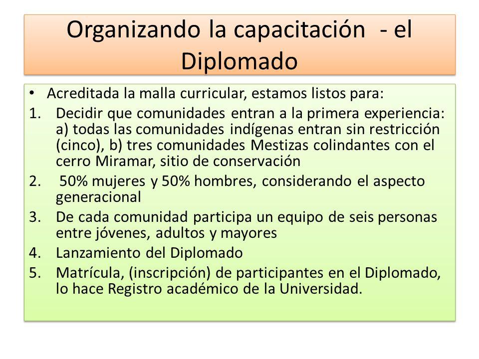 Organizando la capacitación - el Diplomado
