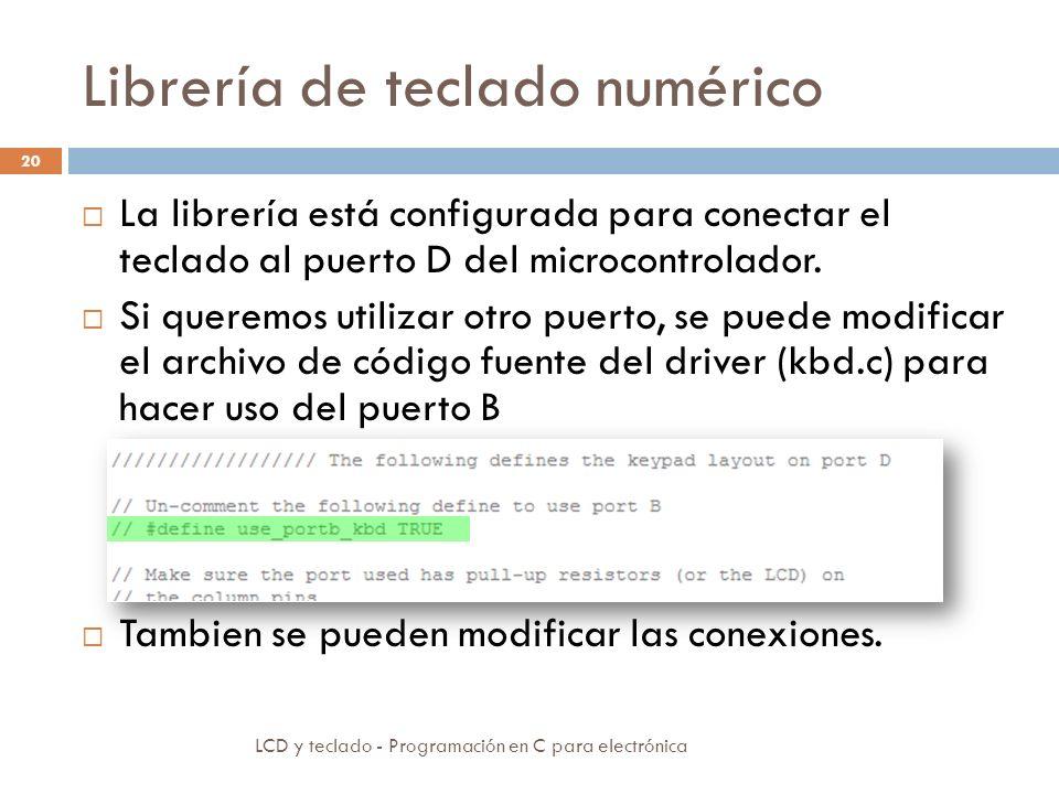 Librería de teclado numérico