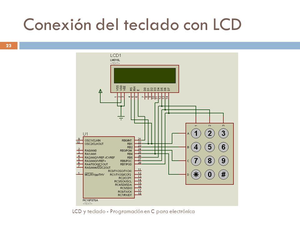 Conexión del teclado con LCD