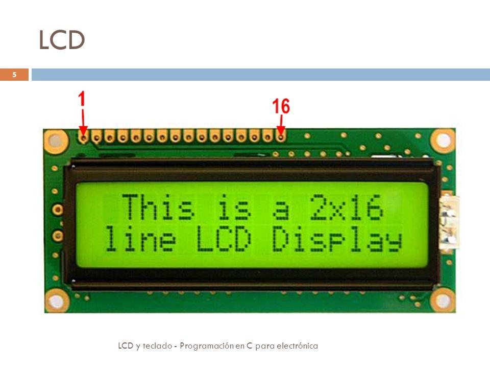 LCD LCD y teclado - Programación en C para electrónica