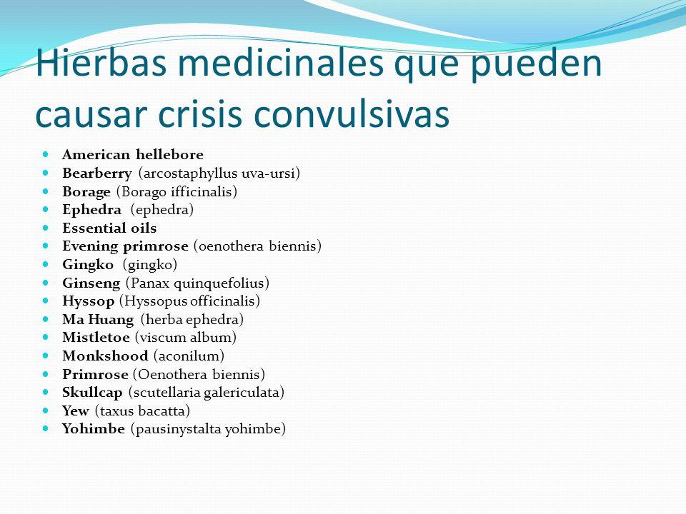 Hierbas medicinales que pueden causar crisis convulsivas