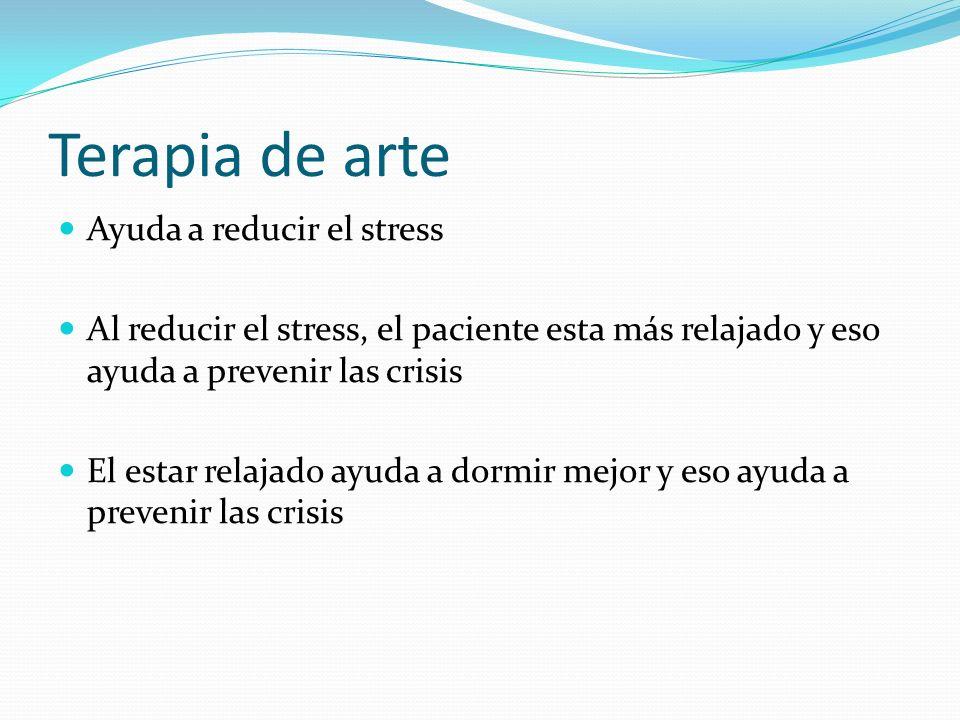 Terapia de arte Ayuda a reducir el stress