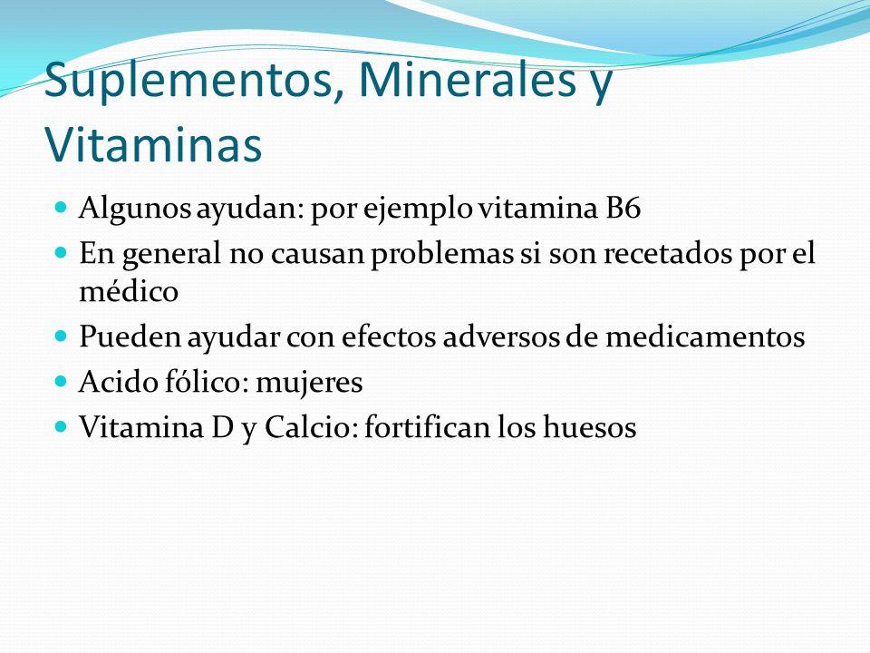 Suplementos, Minerales y Vitaminas