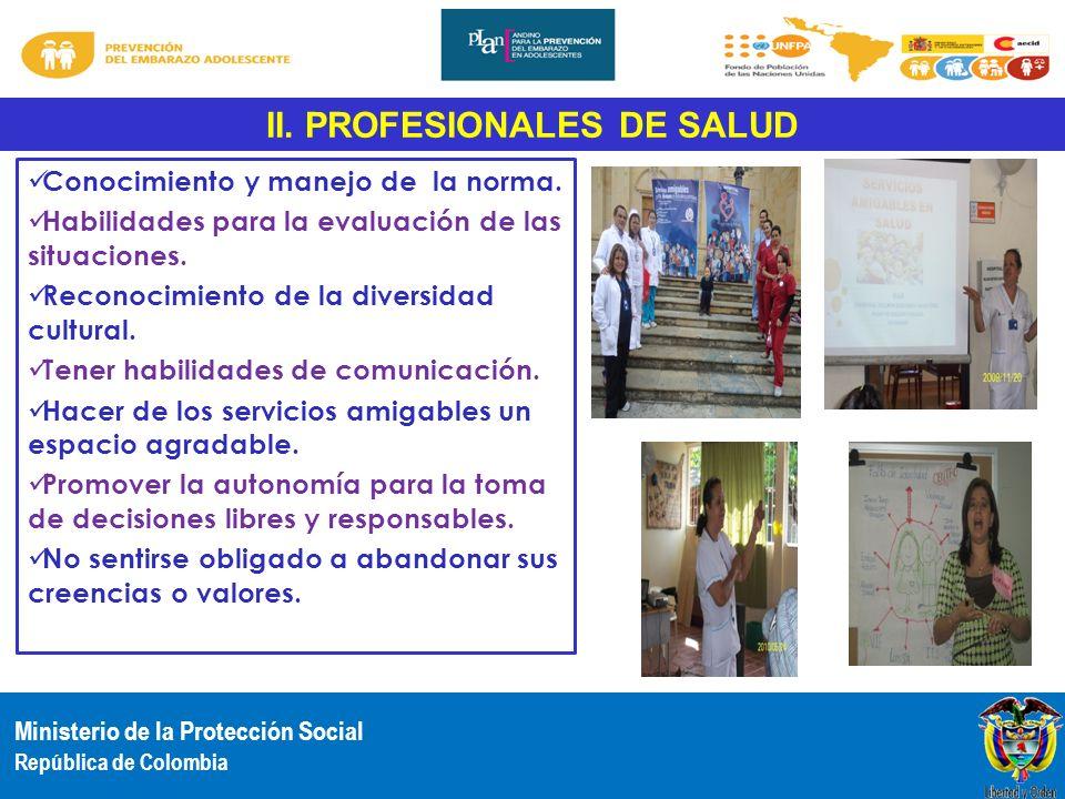 II. PROFESIONALES DE SALUD
