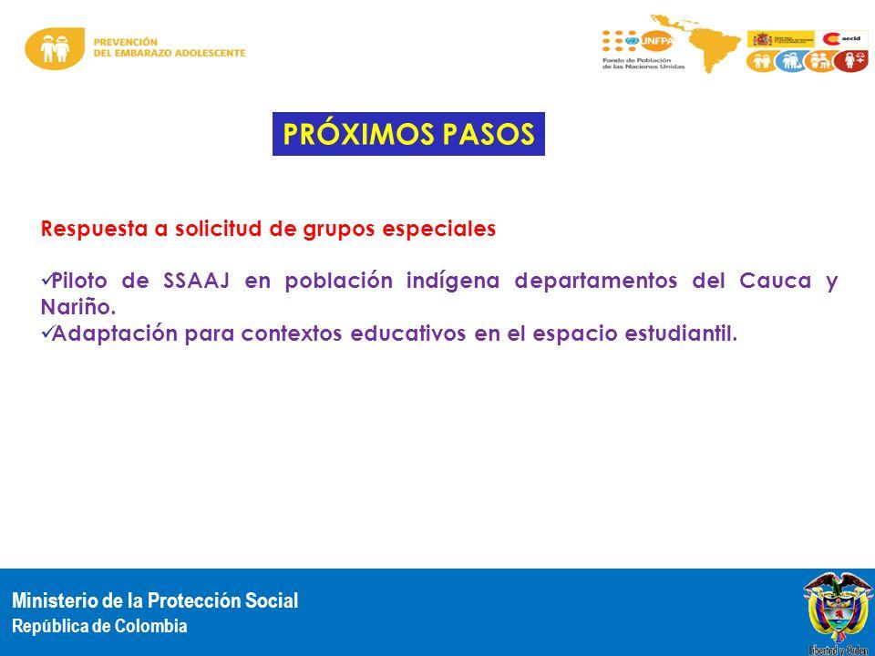 PRÓXIMOS PASOS Respuesta a solicitud de grupos especiales
