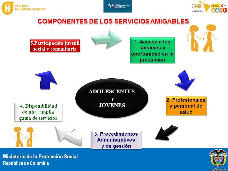 COMPONENTES DE LOS SERVICIOS AMIGABLES