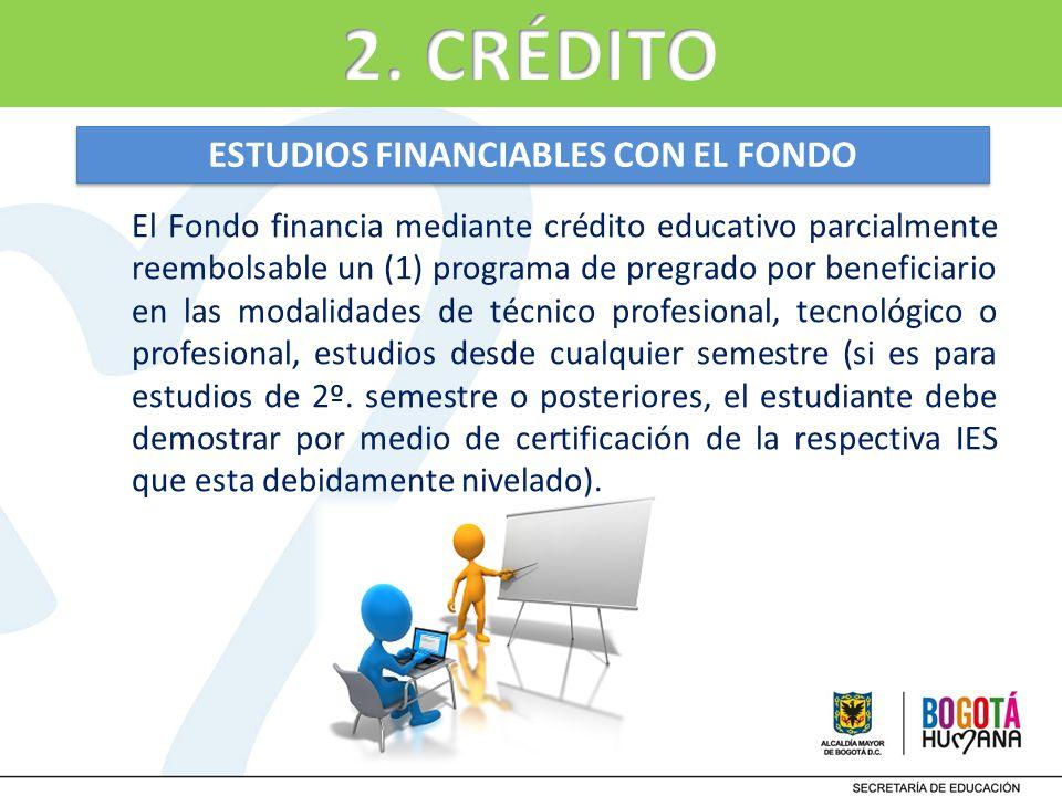 ESTUDIOS FINANCIABLES CON EL FONDO