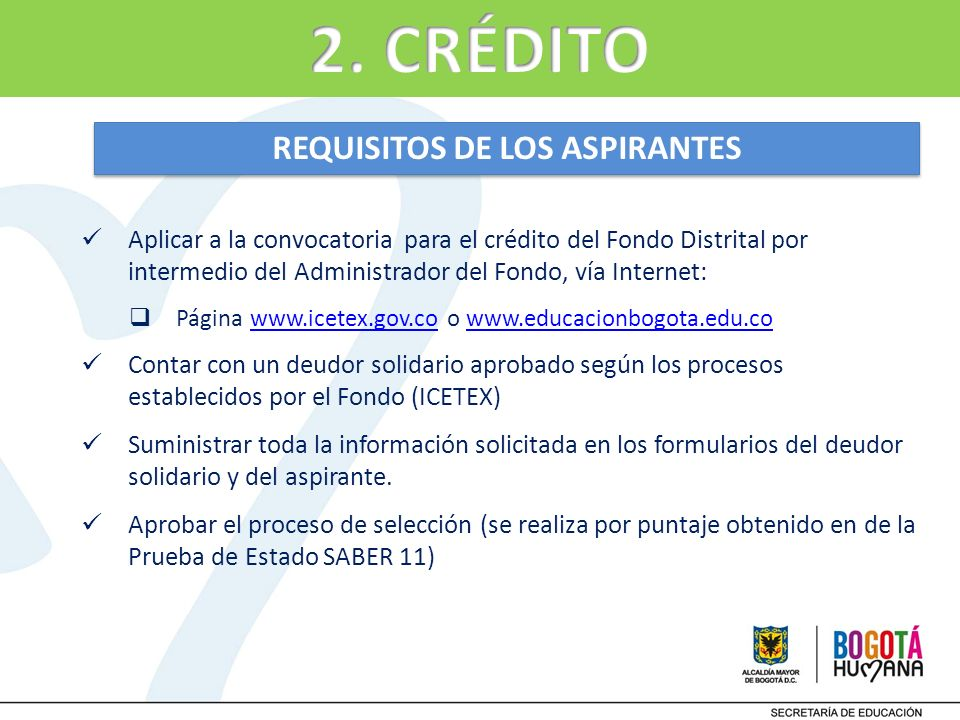 REQUISITOS DE LOS ASPIRANTES