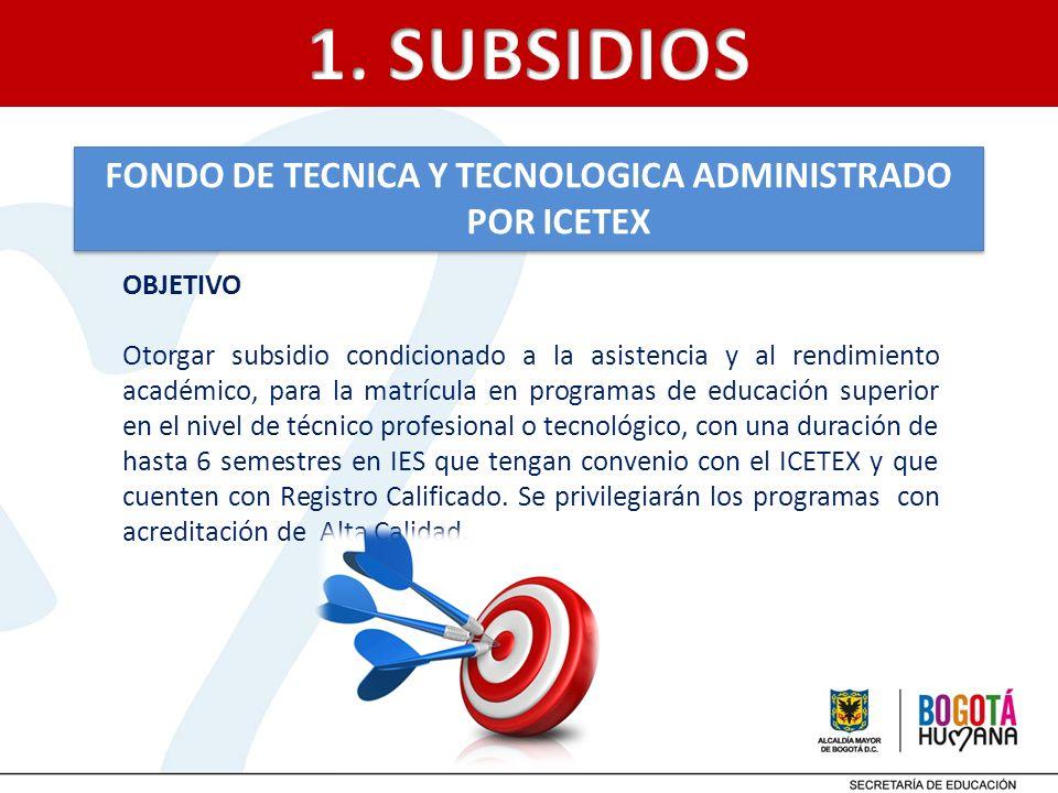 FONDO DE TECNICA Y TECNOLOGICA ADMINISTRADO POR ICETEX