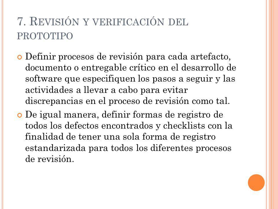 7. Revisión y verificación del prototipo