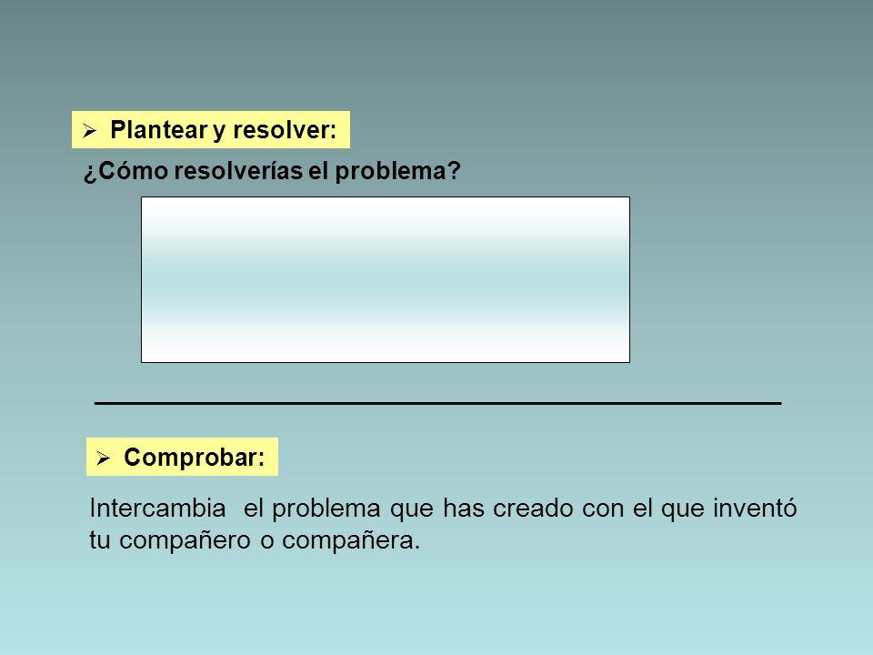 Plantear y resolver: ¿Cómo resolverías el problema _________________________________________________________.
