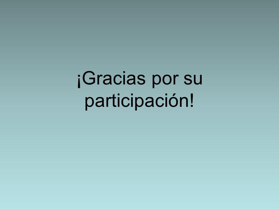 ¡Gracias por su participación!