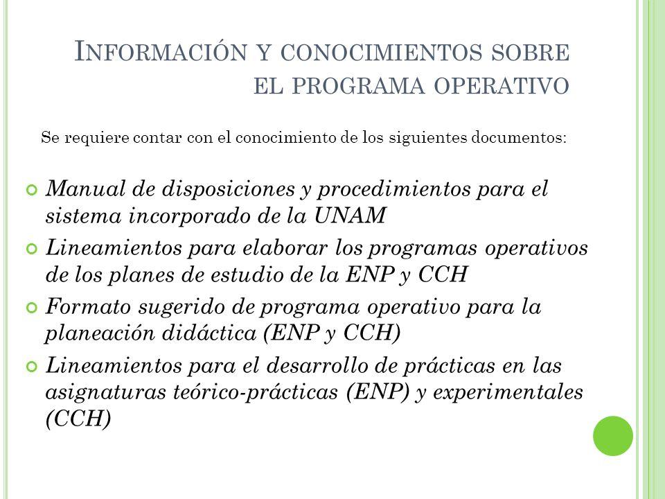 Información y conocimientos sobre el programa operativo