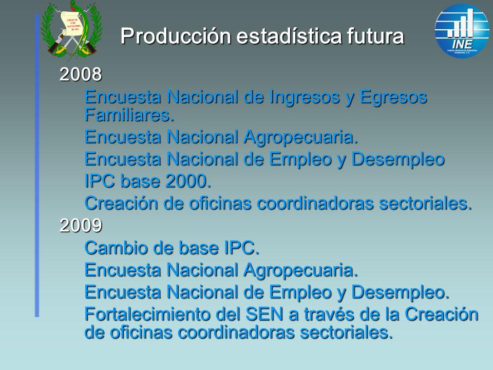 Producción estadística futura