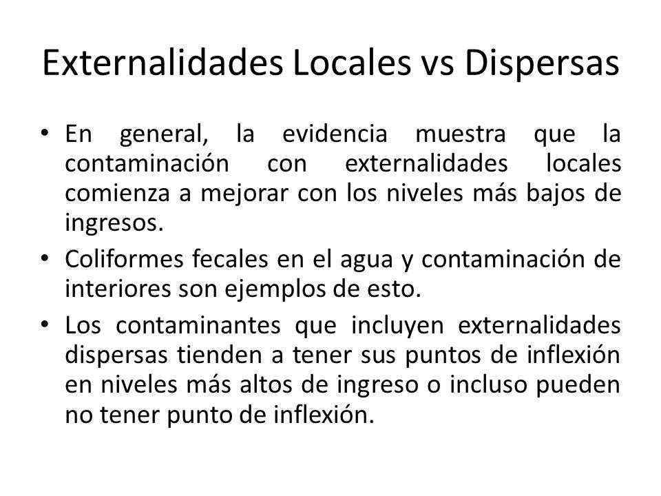 Externalidades Locales vs Dispersas