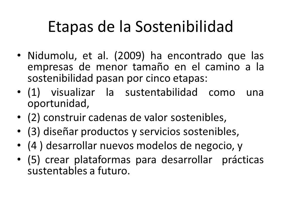 Etapas de la Sostenibilidad