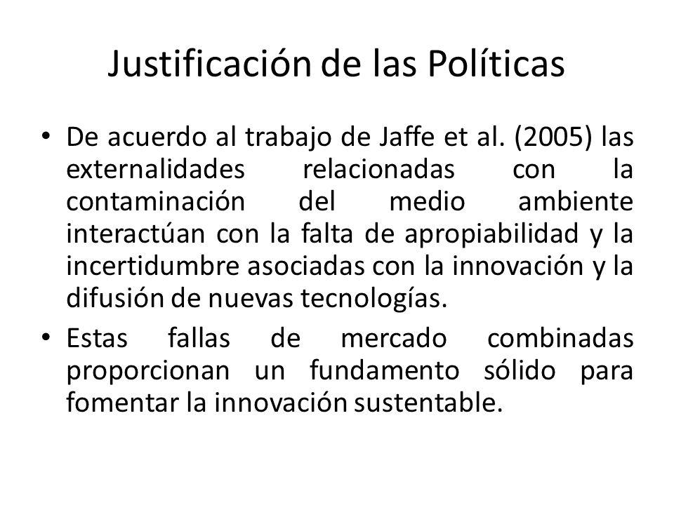 Justificación de las Políticas