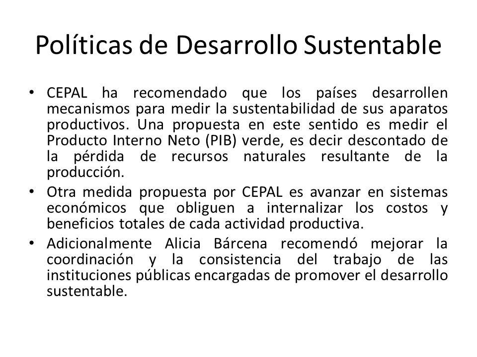 Políticas de Desarrollo Sustentable