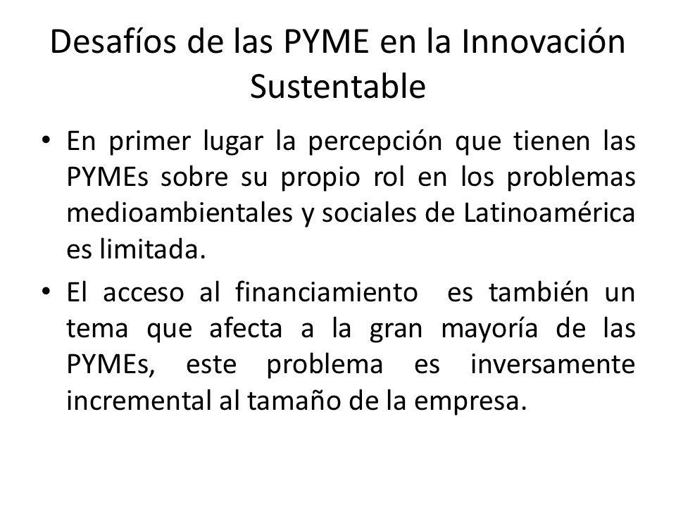 Desafíos de las PYME en la Innovación Sustentable