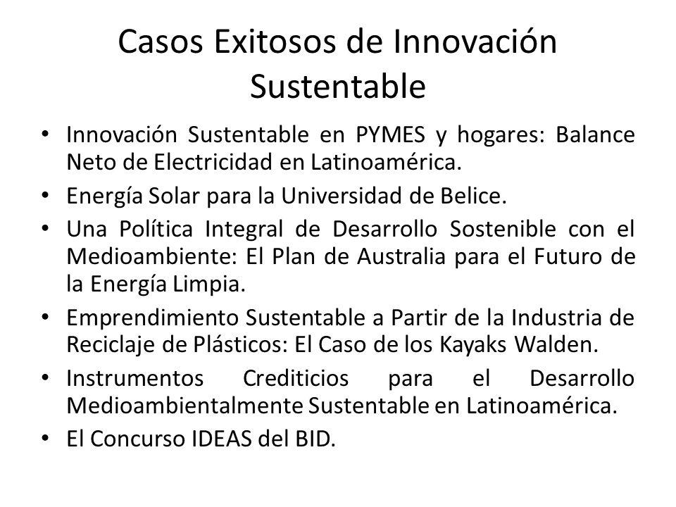 Casos Exitosos de Innovación Sustentable