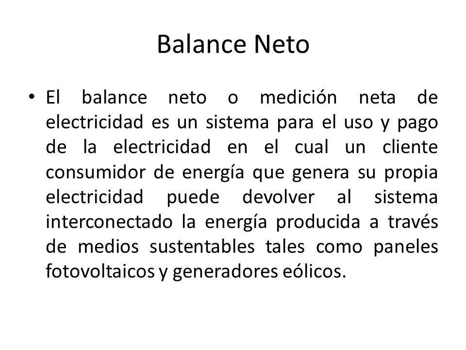 Balance Neto