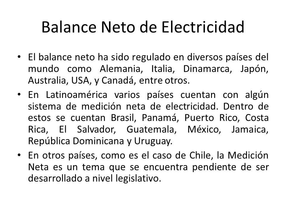 Balance Neto de Electricidad