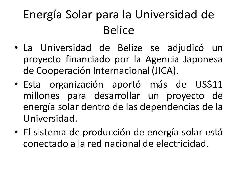 Energía Solar para la Universidad de Belice