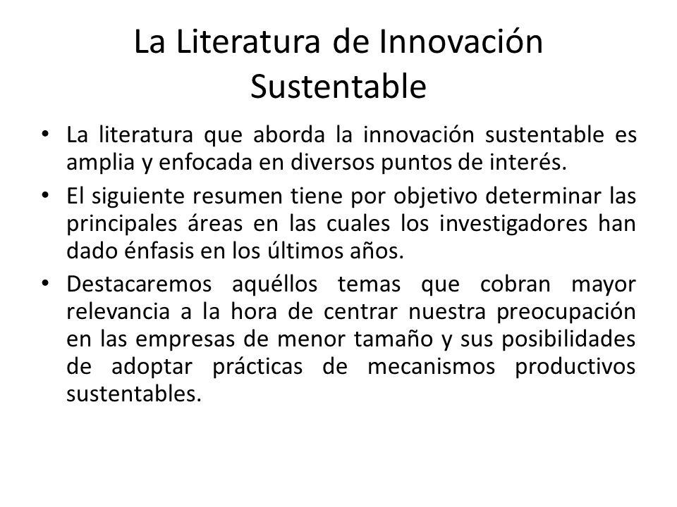 La Literatura de Innovación Sustentable