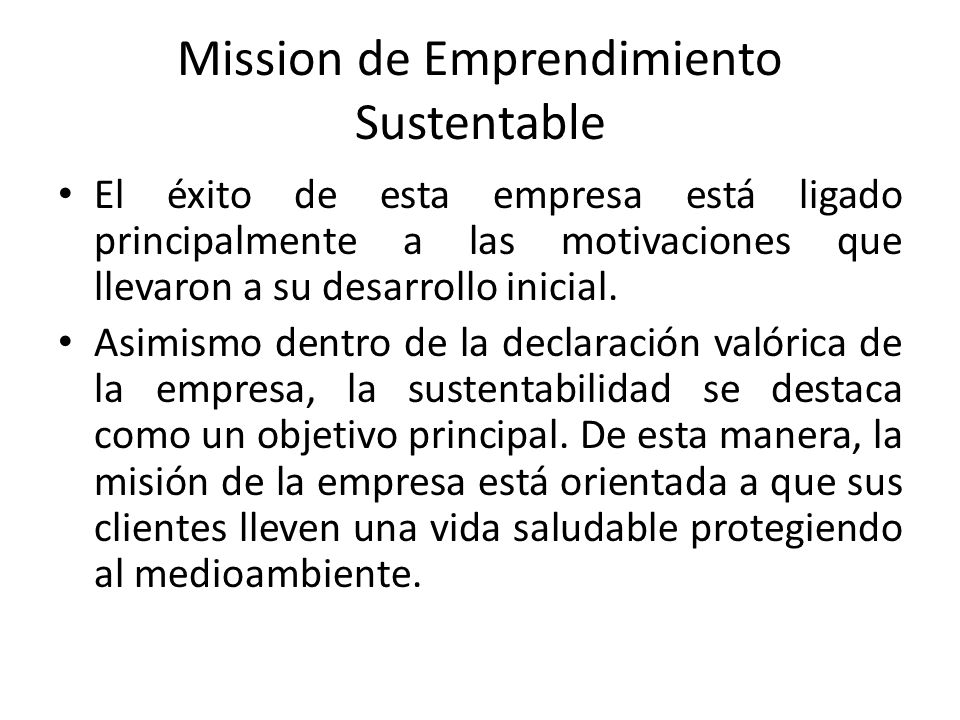 Mission de Emprendimiento Sustentable