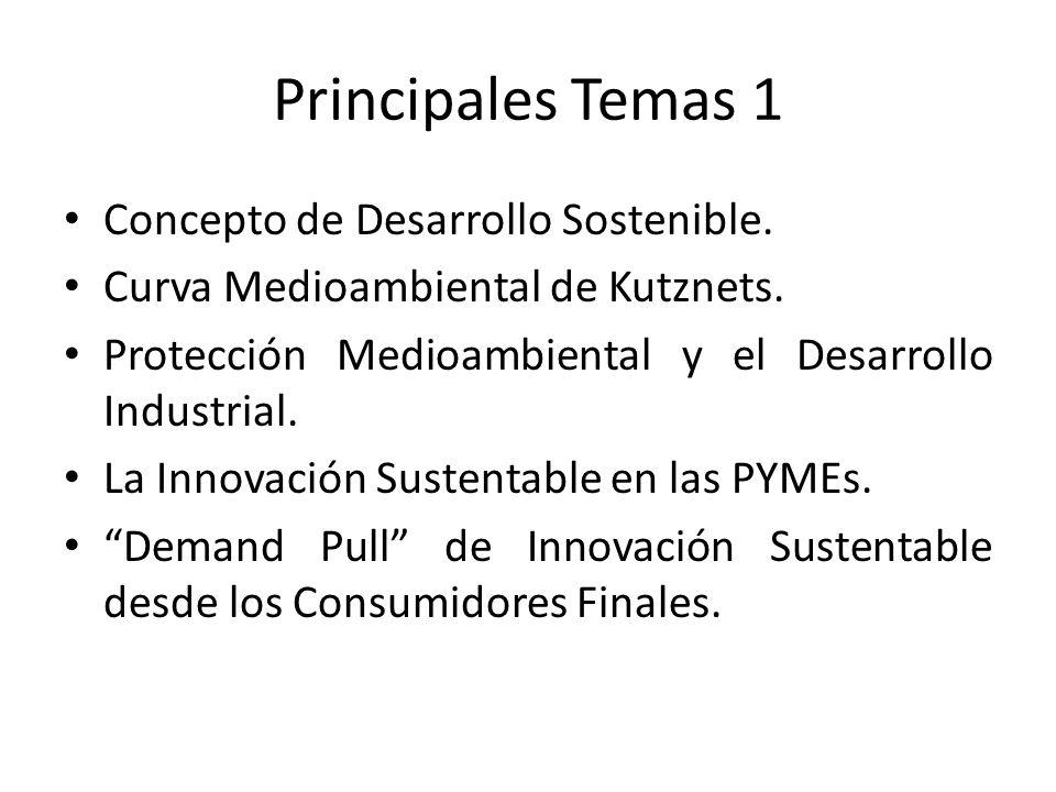 Principales Temas 1 Concepto de Desarrollo Sostenible.