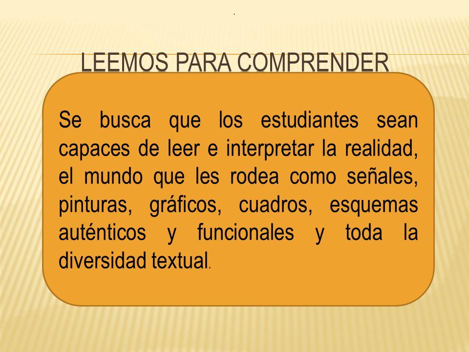 LEEMOS PARA COMPRENDER