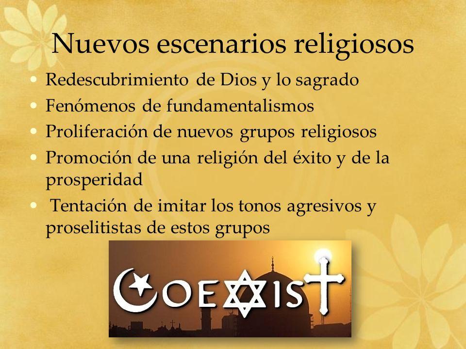 Nuevos escenarios religiosos