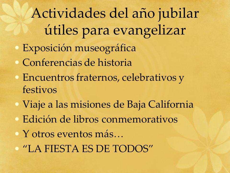 Actividades del año jubilar útiles para evangelizar