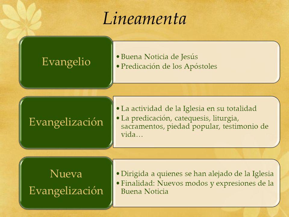 Lineamenta Evangelio Evangelización Nueva Evangelización