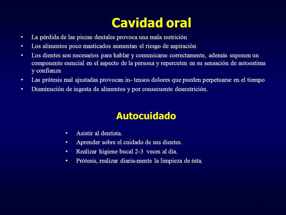 Cavidad oral Autocuidado