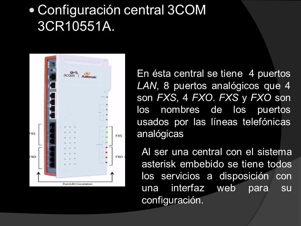 Configuración central 3COM 3CR10551A.