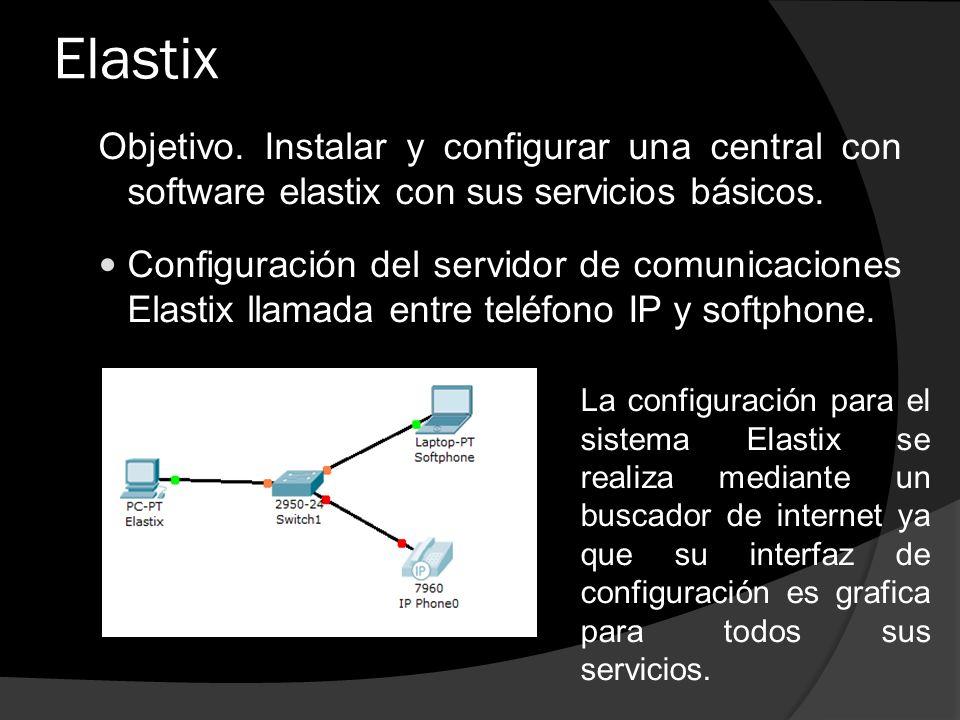 Elastix Objetivo. Instalar y configurar una central con software elastix con sus servicios básicos.