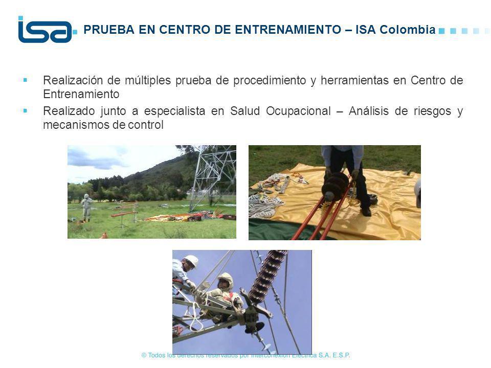 PRUEBA EN CENTRO DE ENTRENAMIENTO – ISA Colombia