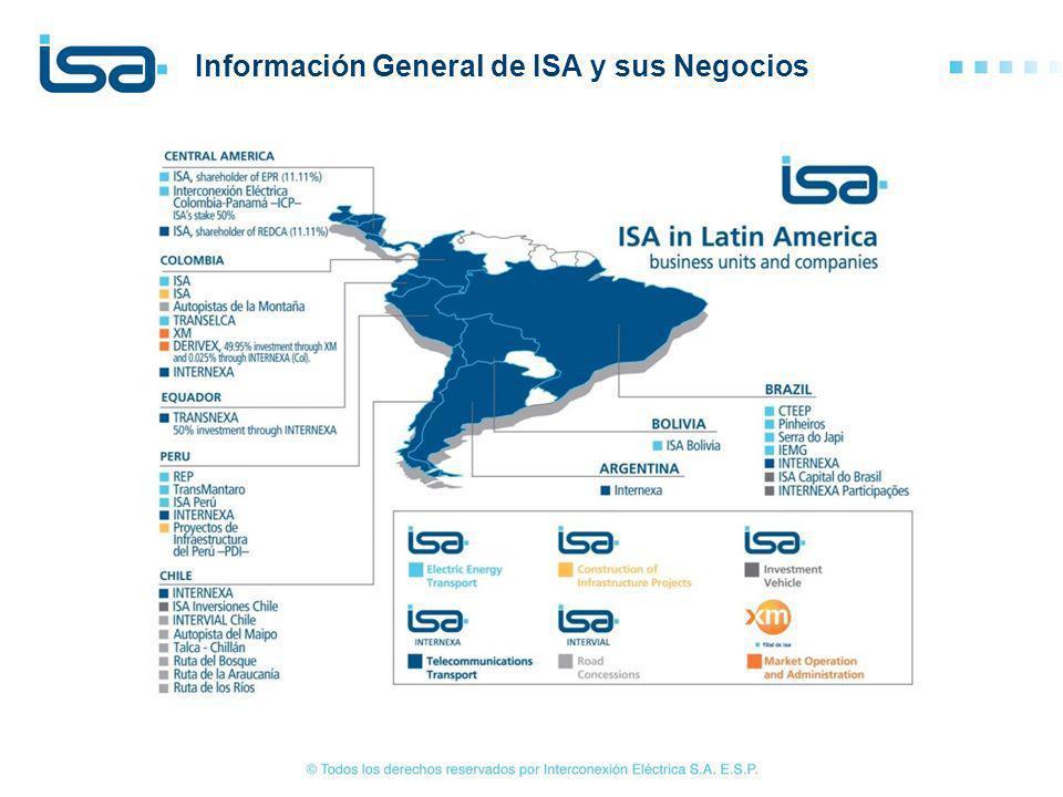 Información General de ISA y sus Negocios