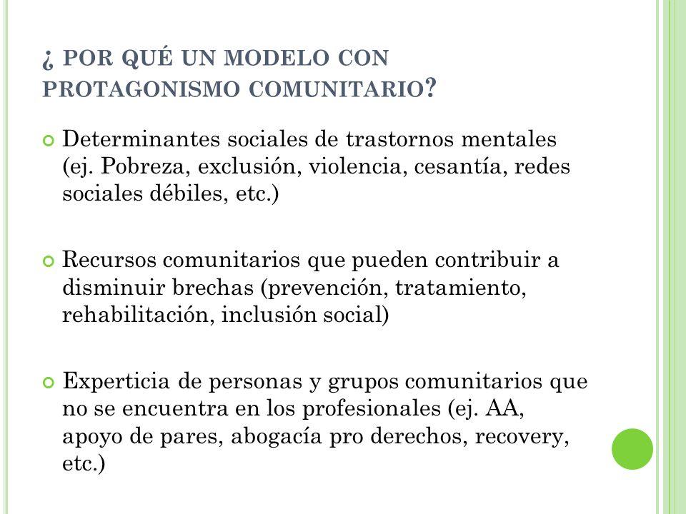 ¿ por qué un modelo con protagonismo comunitario