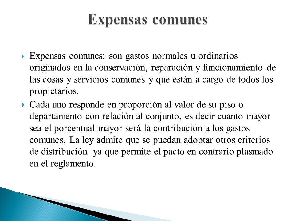 Expensas comunes