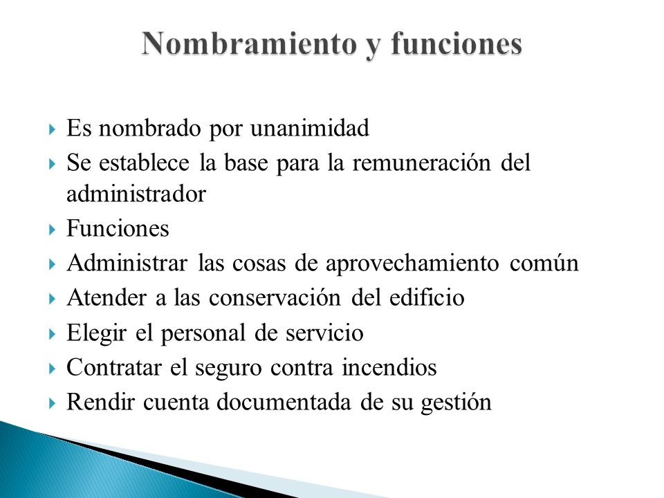 Nombramiento y funciones