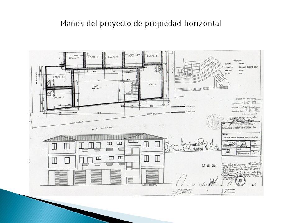 Planos del proyecto de propiedad horizontal
